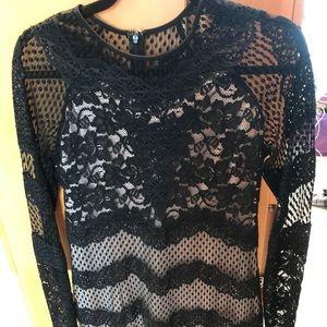 Fabulous lace overlay dress!